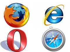 Internet Explorer 8,Firefox 3,Google Chrome 2,Safari 4,Opera 10 Beta